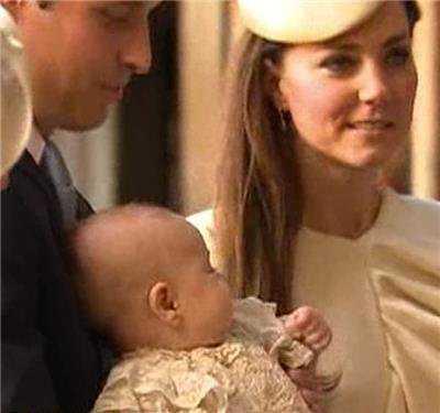 Герцог и герцогиня Кембриджские крестили сына