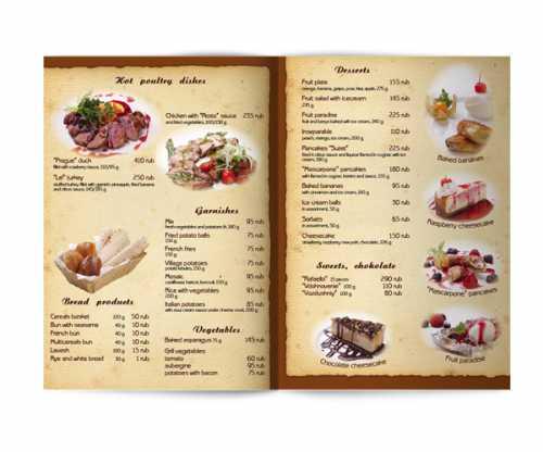 Вресторанах, кафе и барах в меню указываются наименования блюд, закусок и другой продукции и иены