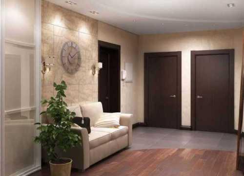 Декоративная плитка на пол в коридор