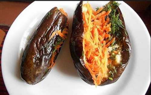 Квашеные баклажаны с морковью на зиму