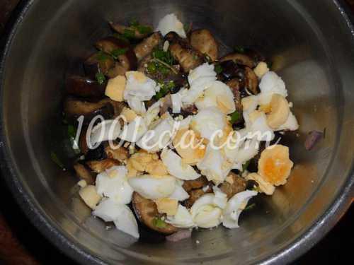 Салат из запеченных баклажан по
