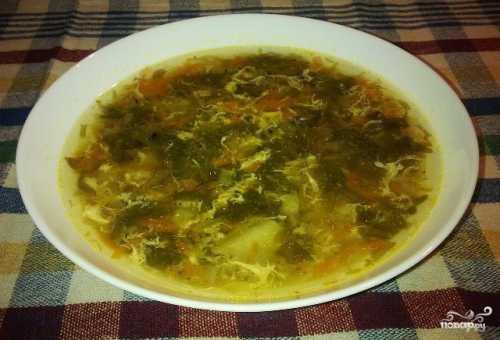 Пошаговый рецепт супа щавелевого с яйцом,
