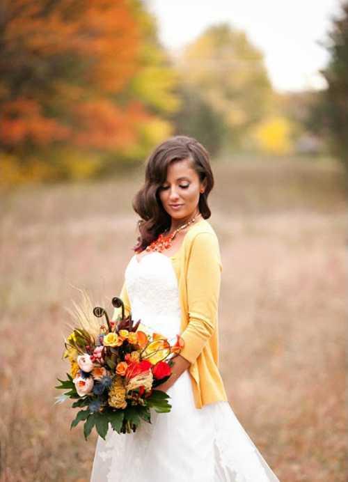 Накидки на свадебное платье на осень