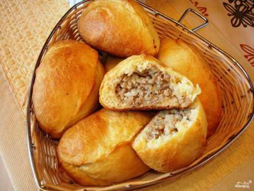 Пирожки с мясом пошаговый рецепт